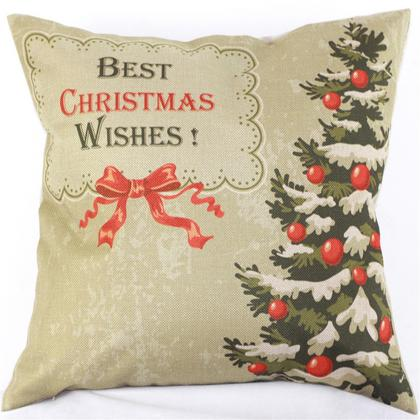 2015 Christmas Custom Cushion Without Core Cotton Linen Pillow Decorative Pillows Ikea Home Decor Sofa Chair Cushions 45*45cm