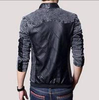 New style, black leather jacket for men