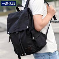 Black cloth backpack